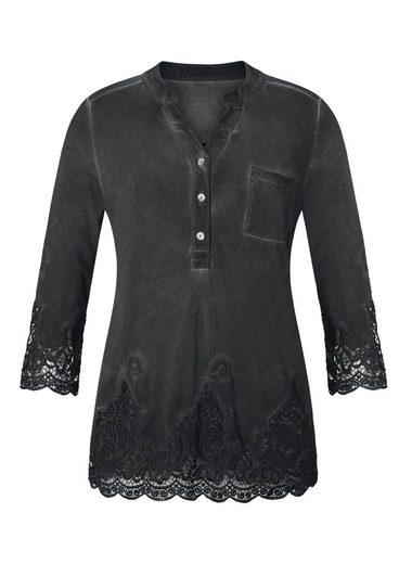 Création L Shirtbluse üppig mit Spitze veredelt
