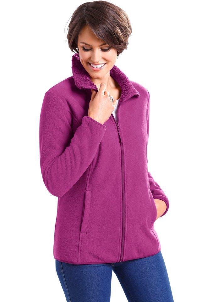 Classic Basics Fleece-Jacke mit flauschigem Teddyfleece-Futter in fuchsia