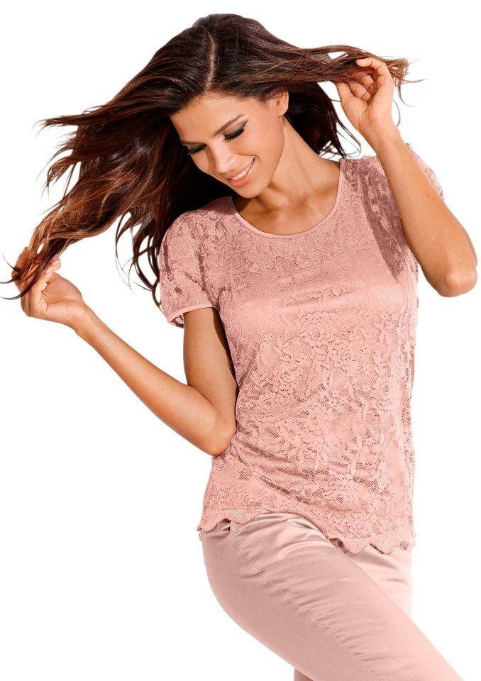 Création L Shirt mit farblich abgestimmte Trägertop in rosé