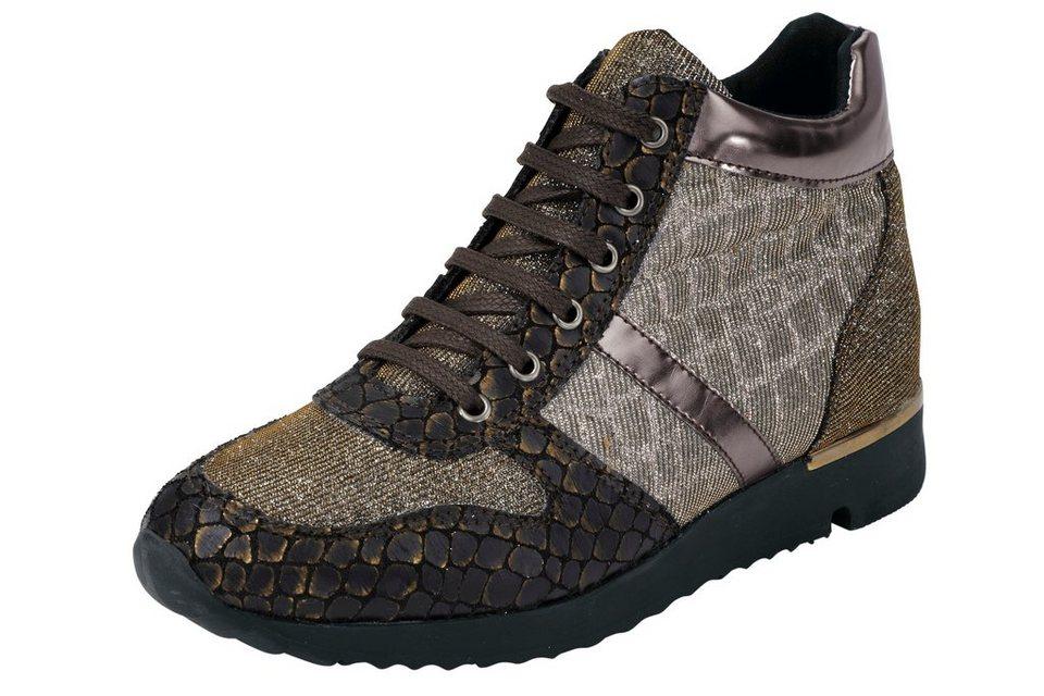 Sneaker in braun/metallic