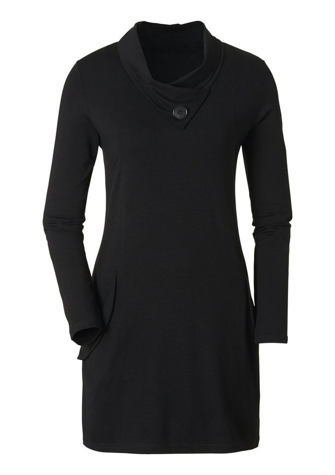 Ambria Longshirt in Wickel-Optik in schwarz