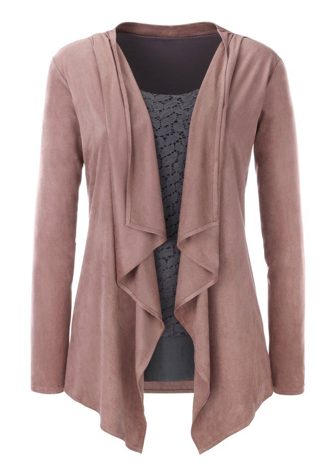 Ambria Blazer in offener Form in rosé