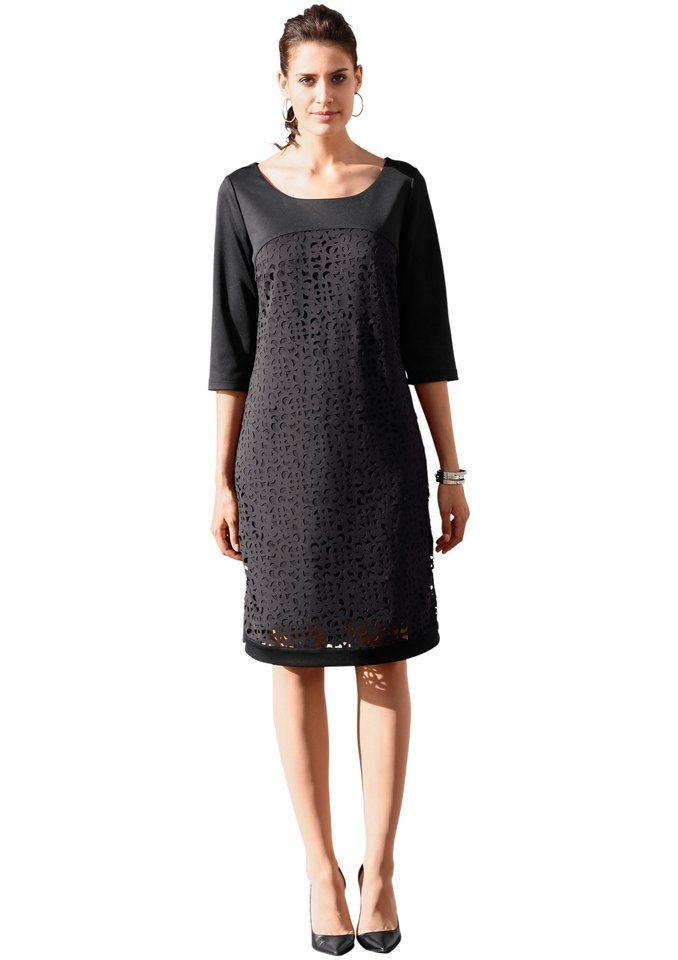 Création L Jersey-Kleid Blickdicht unterlegt in schwarz