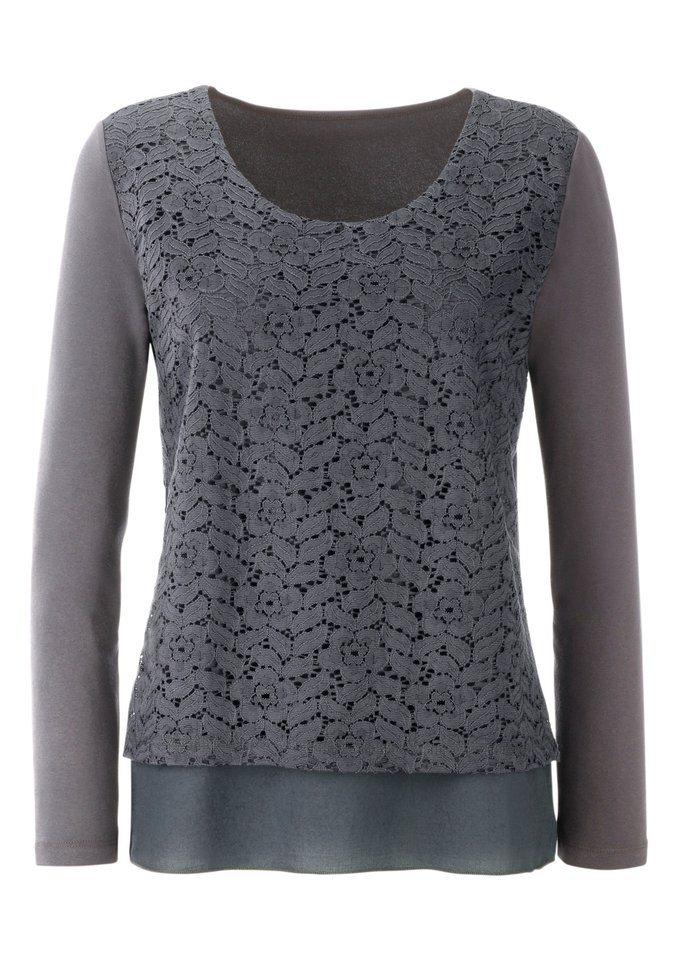 Ambria Shirt im Lagen-Look in grau