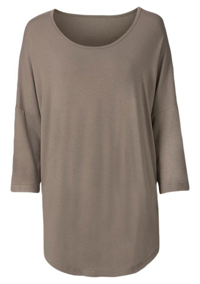 Classic Basics Longshirt mit 3/4-Ärmel in taupe