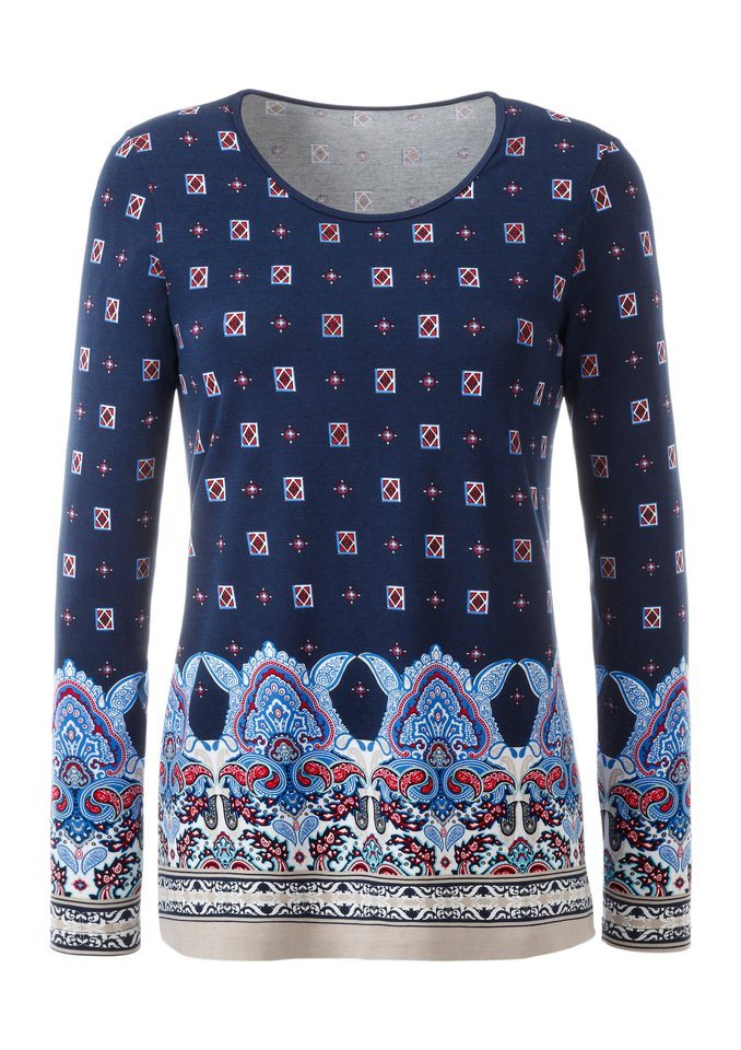 Ambria Shirt kunstvoll bedruckt in bunt-gemustert