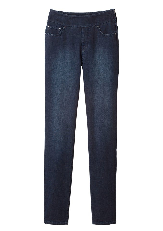 Collection L. Jeans in 5-Pocket-Form in dark blue