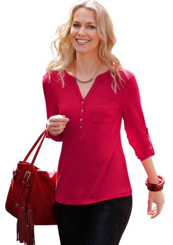 Ambria Shirt mit langen Ärmel zum Krempeln in rot