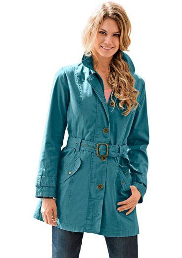 Classic Inspirationen Trenchcoat mit Hemdkragen