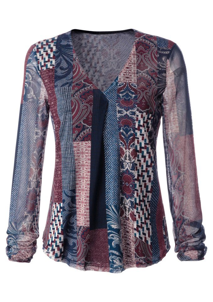 Mimoska Shirt in herrlich weicher Mesh-Qualität in marine-bedruckt