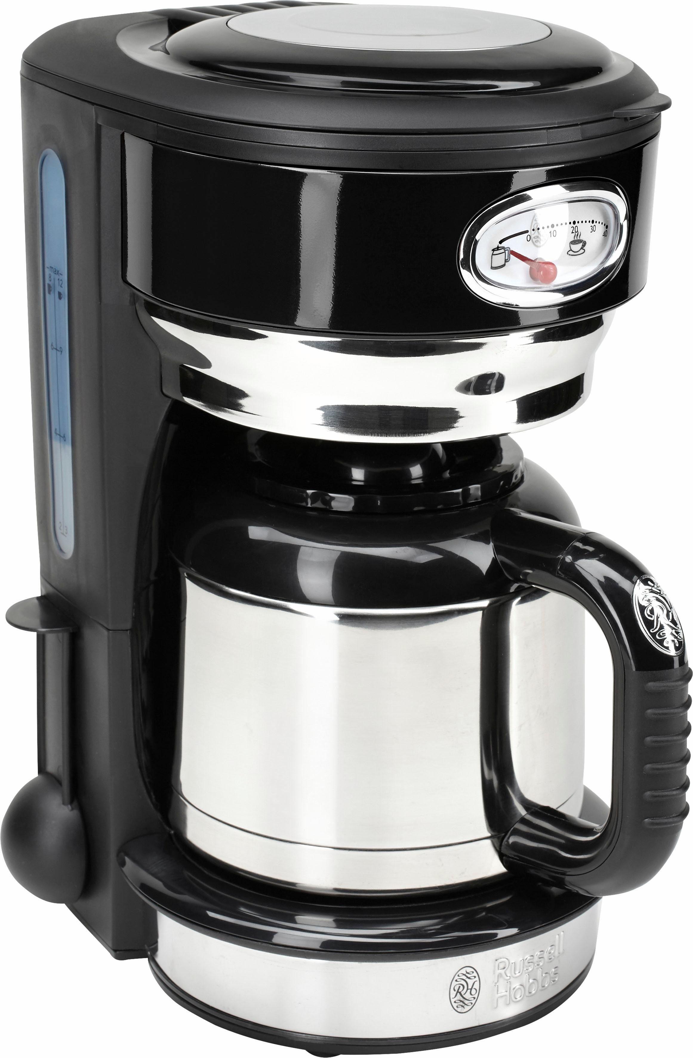 RUSSELL HOBBS Filterkaffeemaschine Retro 21711-56, 1l Kaffeekanne, Papierfilter 1x4, mit Retro-Brühanzeige