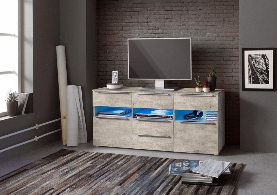 Sideboard, Breite 139 cm in Beton-Optik