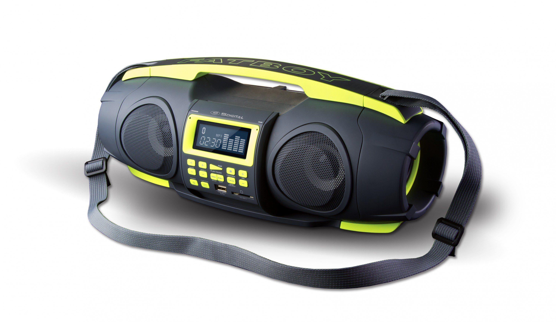 SDigital tragbare Bluetooth-Boombox (FM Radio, MP3-Wiedergabe) »Fatboy«