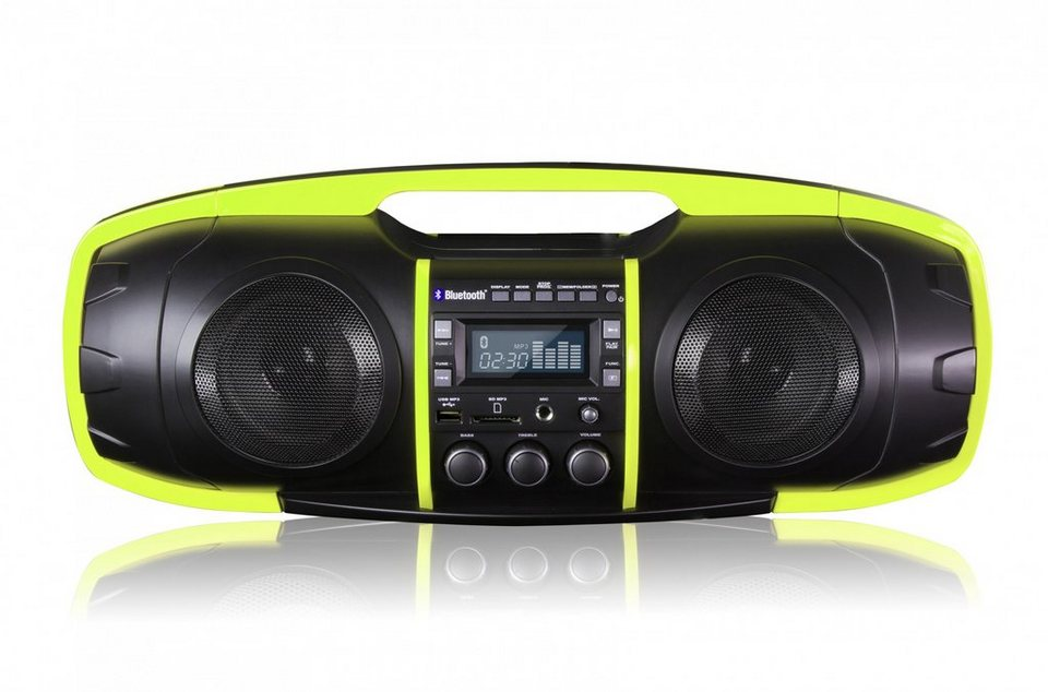 SDigital Bluetooth-Boombox (FM Radio, MP3-Wiedergabe) »Nuke« in Grün