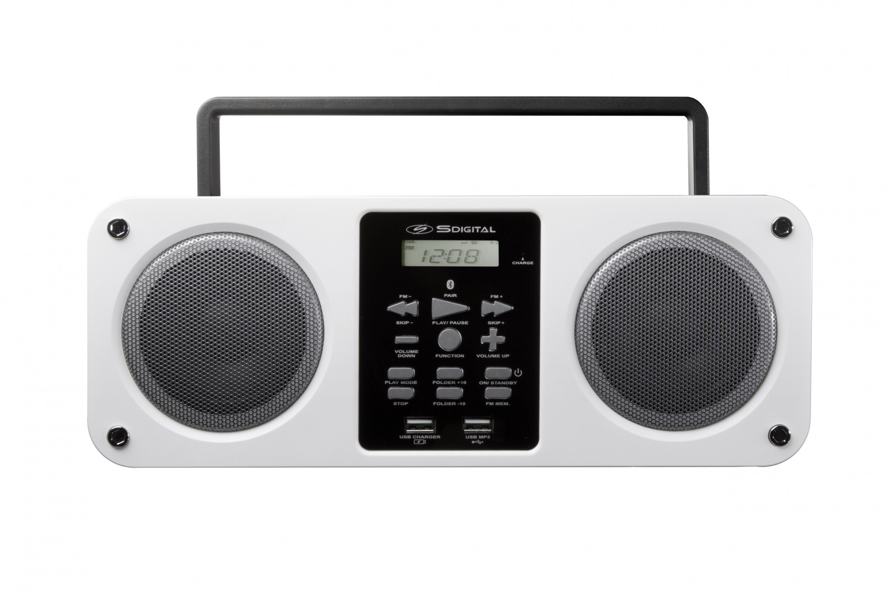 SDigital tragbare Bluetooth-Boombox (FM-Radio, MP3-Wiedergabe) »Mission«