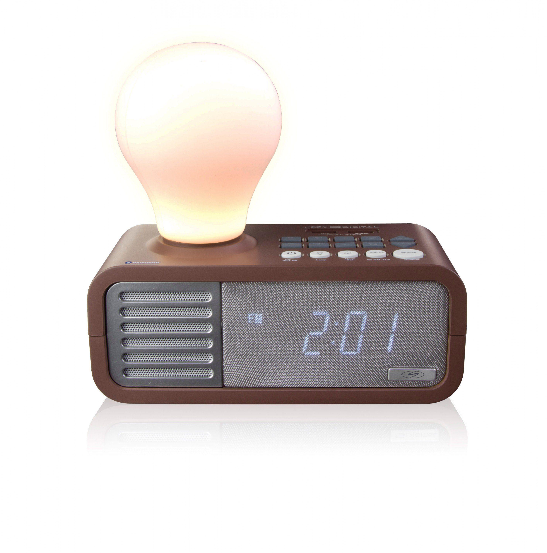 SDigital Bluetooth-Radiowecker mit Tageslichteffekt und USB-Charger »LightYear«