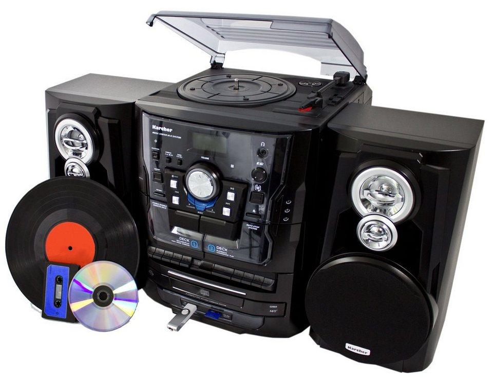 karcher kompaktanlage mit plattenspieler ka 350 otto. Black Bedroom Furniture Sets. Home Design Ideas