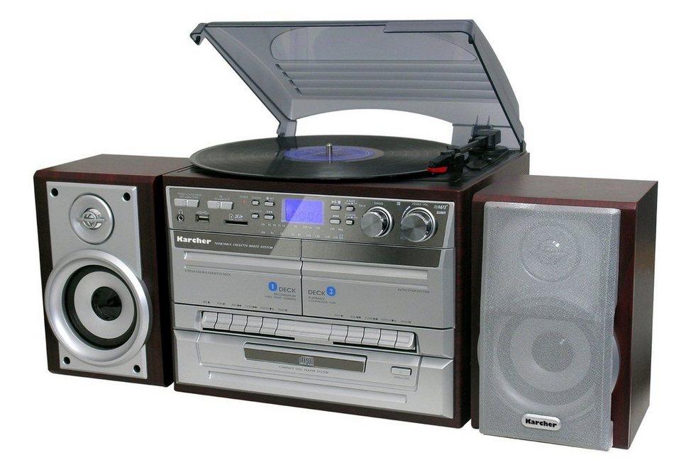 karcher kompaktanlage mit plattenspieler ka 320 otto. Black Bedroom Furniture Sets. Home Design Ideas