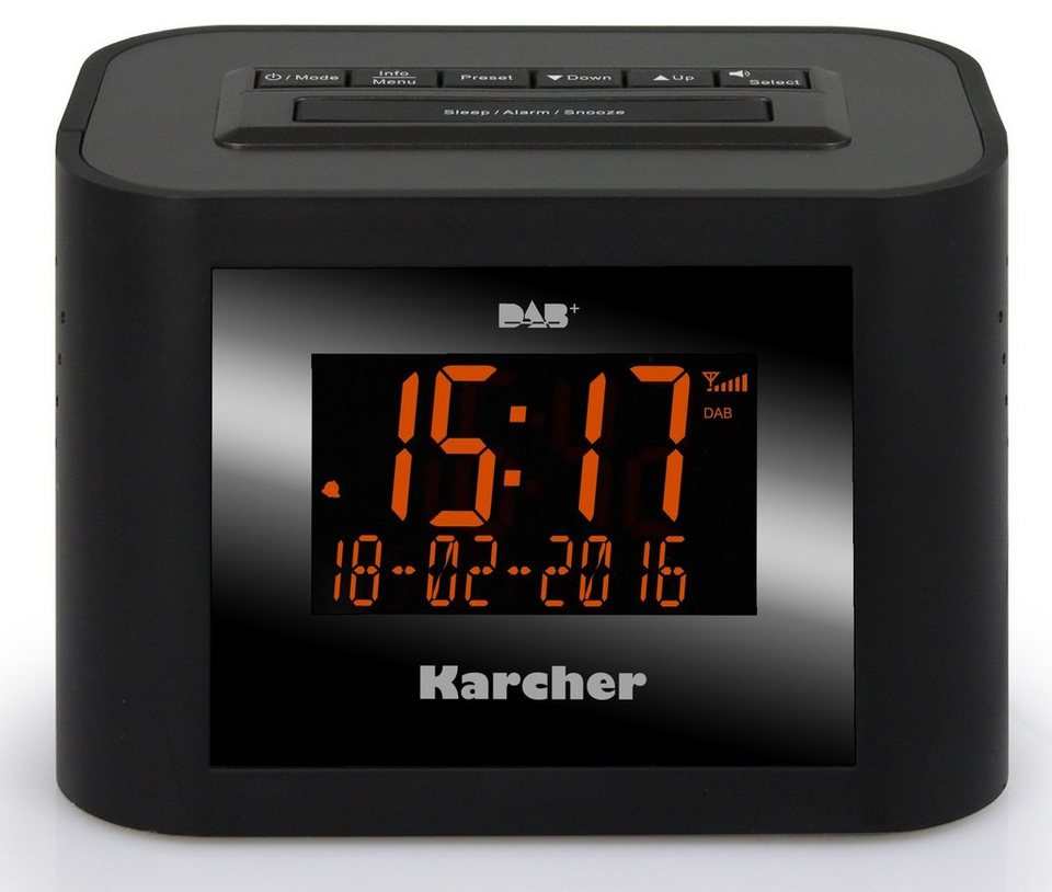 Karcher digitales Uhrenradio »DAB 2420« in Schwarz