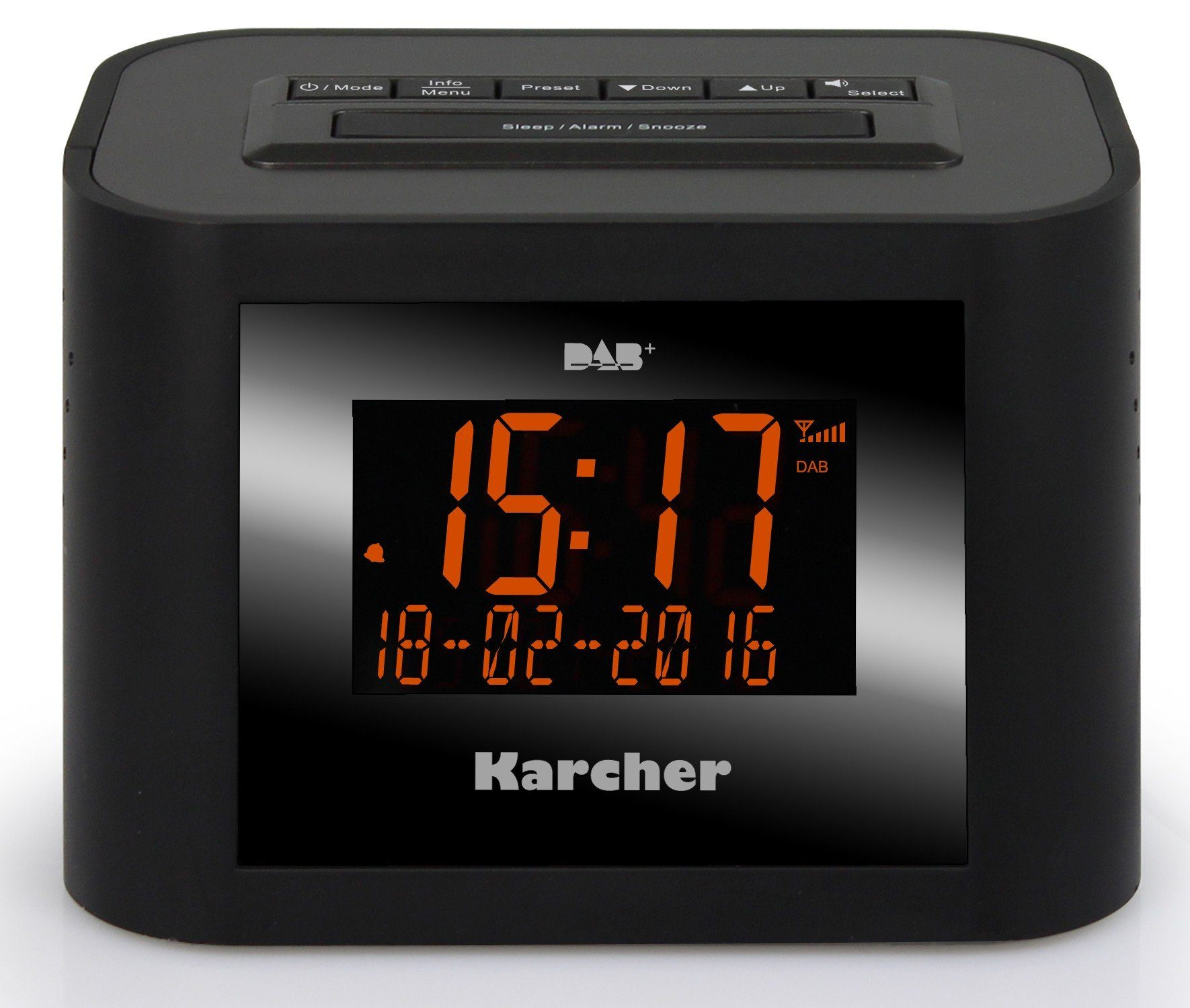 Karcher digitales Uhrenradio »DAB 2420«