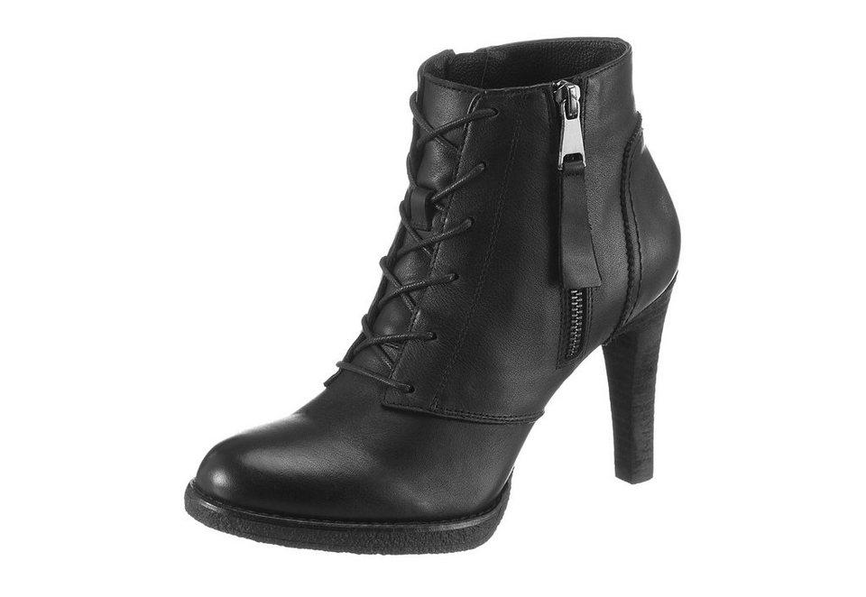 Spm High-Heel-Stiefelette in schwarz