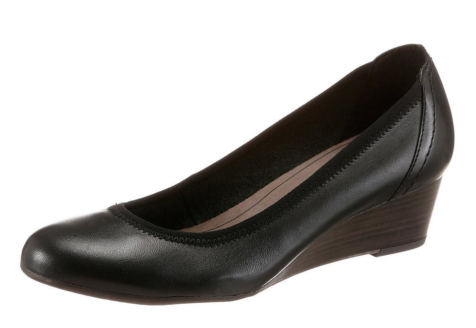 Tamaris Keilpumps in schwarz