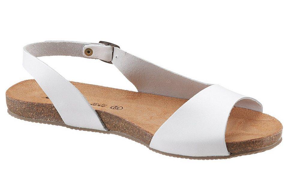 Eddie Bauer Leder-Sandale in Weiß
