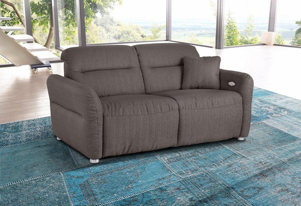 Premium collection by Home affaire 2-Sitzer »Andorra«, mit elektrischer Relaxfunktion in basalt