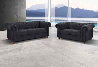 Premium Collection By Home Affaire Set »Chesterfield«, 3 Sitzer Und 2