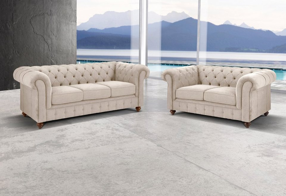 Premium collection by Home affaire Set »Chesterfield«, 3-Sitzer und ...