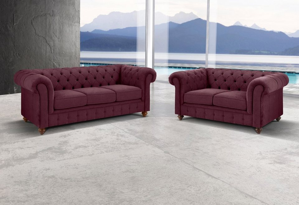 Premium Collection By Home Affaire Set Chesterfield 3 Sitzer Und