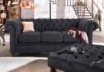 Chesterfield ecksofa stoff grau  Chesterfield Sofa in grau online kaufen | OTTO