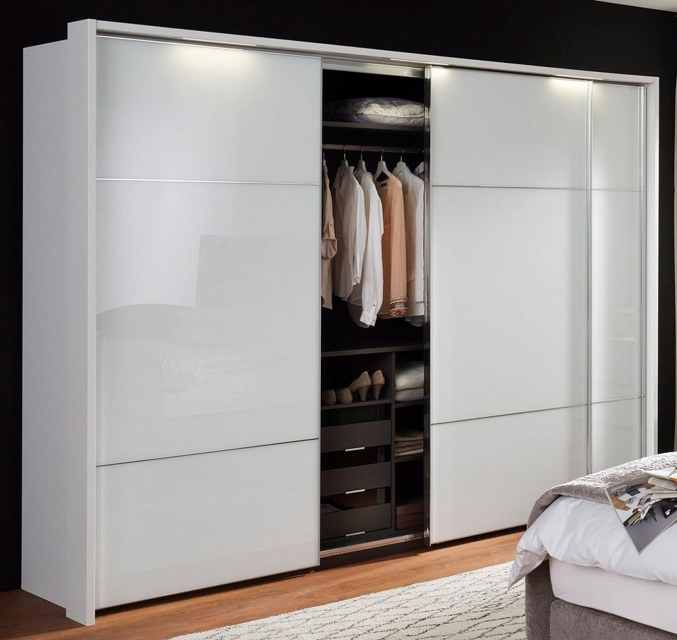 nolte m bel schwebet renschrank marcato mit fronten aus wei glas online kaufen otto. Black Bedroom Furniture Sets. Home Design Ideas