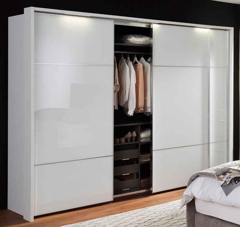 nolte® Möbel Schwebetürenschrank »Marcato 2.3« mit Fronten aus Weißglas, Breite 300 cm