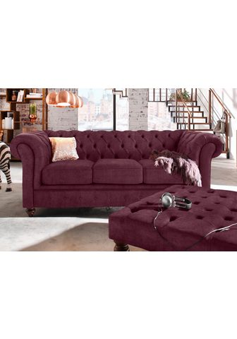PREMIUM COLLECTION BY HOME AFFAIRE Trivietė sofa »Chesterfield«