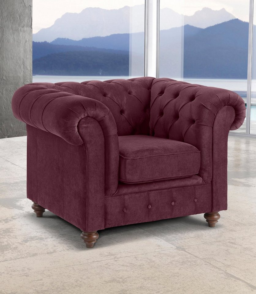 Premium collection by Home affaire Sessel Chesterfield - hier burgund
