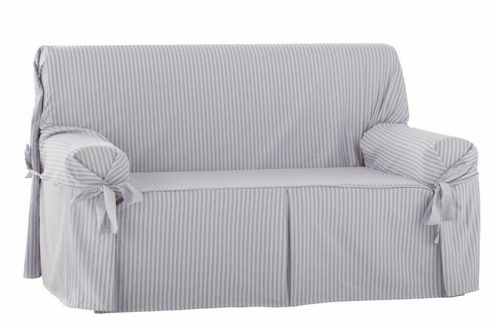 sofahusse zebra rayas mit schleifen lockerem fall online kaufen otto. Black Bedroom Furniture Sets. Home Design Ideas