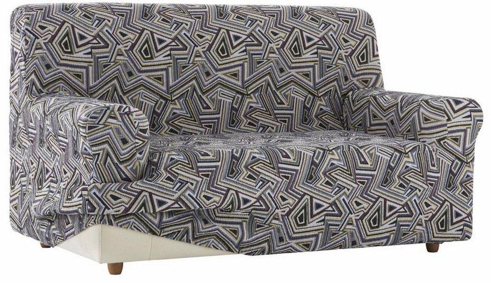 Sofahusse, Zebra, »Babel«, mit grafischem Design in grau