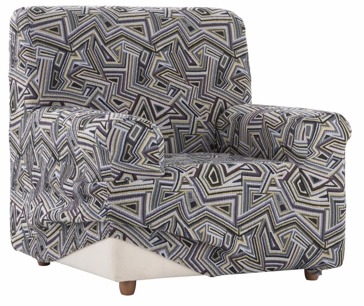 Sesselhusse, Zebra, »Babel«, mit grafischem Design