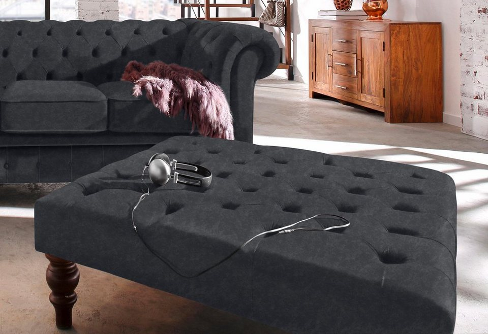 Home affaire Hocker »Chesterfield« in anthrazit