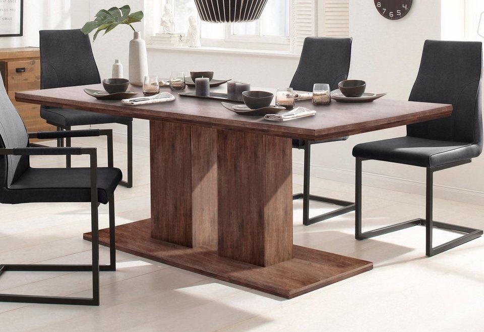 home affaire esstisch macey aus massiver akazie in 2. Black Bedroom Furniture Sets. Home Design Ideas