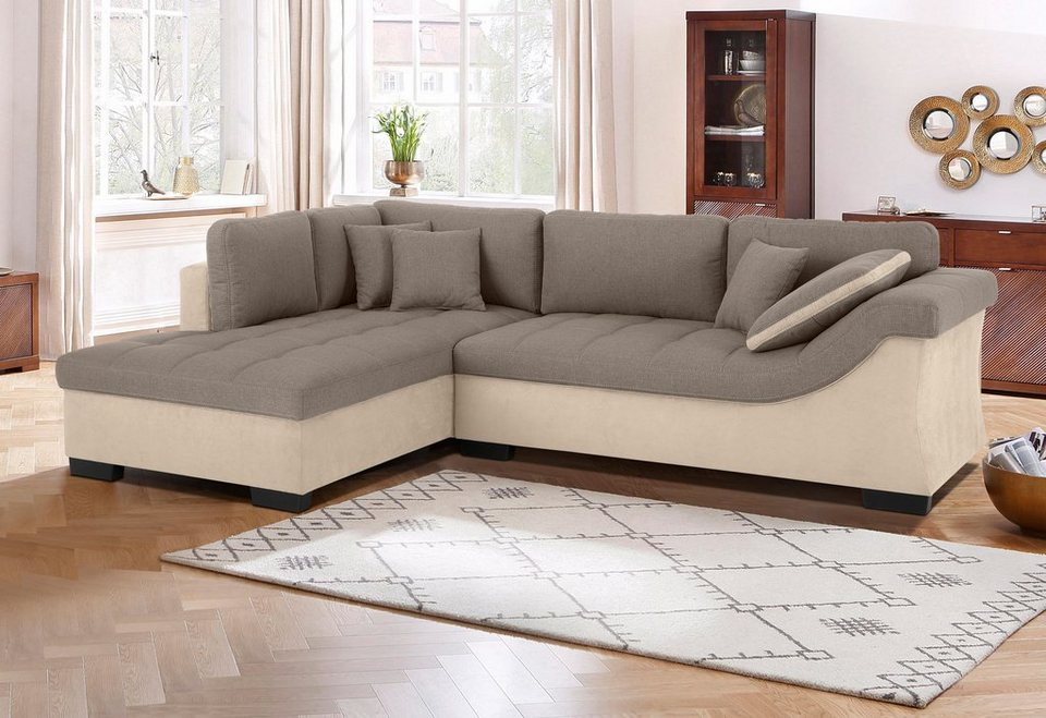 Ecksofa luxus for Funktions ecksofa mit bettkasten