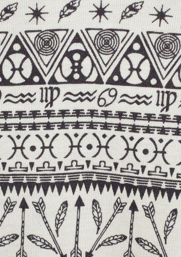 Combinaison Courte Bodywear S.oliver Rouge Avec Motifs Ethniques Et Fines Bretelles