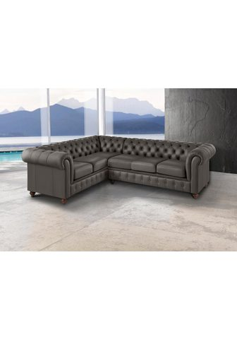 PREMIUM COLLECTION BY HOME AFFAIRE Kampinė sofa »Chesterfield«