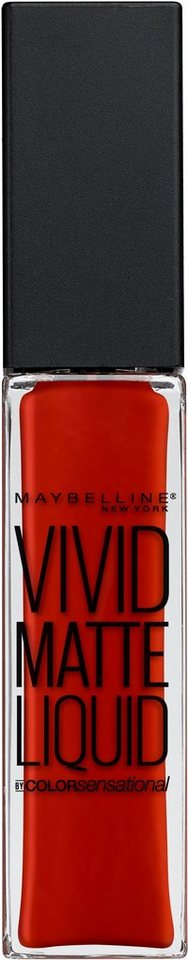 Maybelline New York, »Vivid Matte Liquid«, Lippenstift in 25 Orange Shot