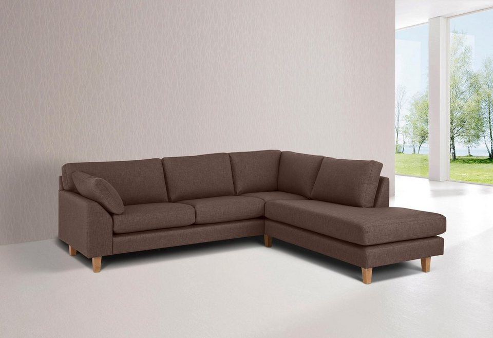 Premium collection by Home affaire Ecksofa »Garda« in mittelbraun