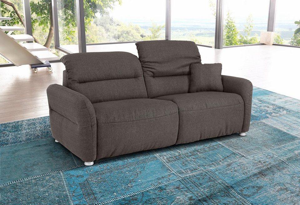 Premium collection by Home affaire 2,5-Sitzer »Andorra«, mit verstellbaren Kopfstützen in basalt