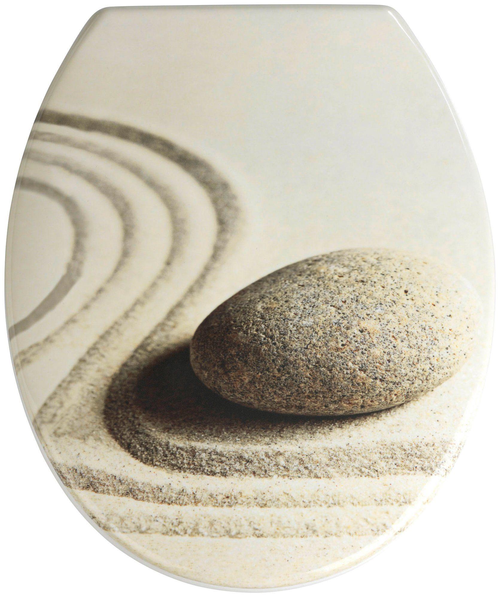 Wenko WC-Sitz »Sand and Stone«