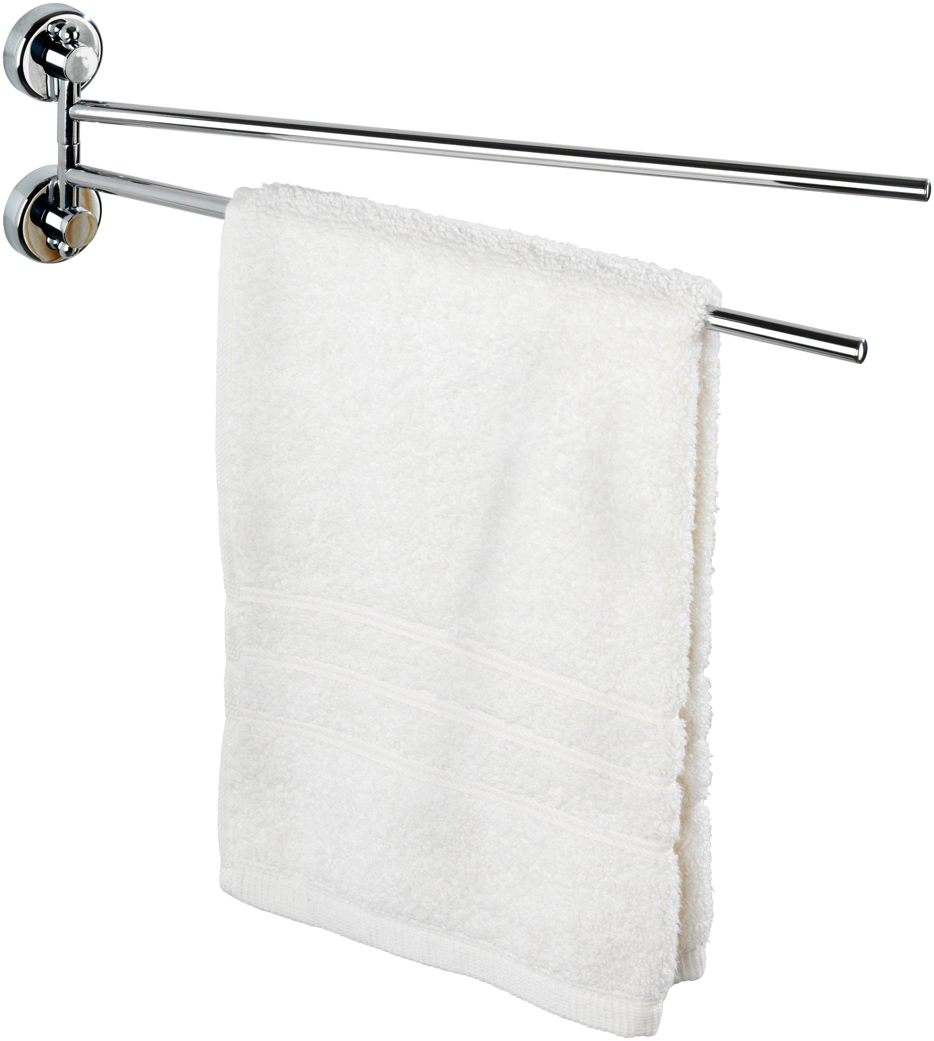 WENKO Handtuchhalter »Sion«, mit 2 Armen, Power-Loc - Befestigen ohne bohren