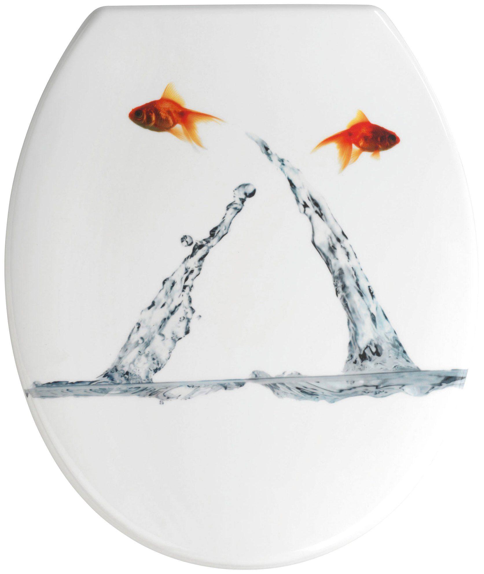Wenko WC-Sitz »Springing Fish«